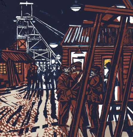 Above & Below: Paintings and Linocuts of Mining and Miners by John Scott Martin: Image 0