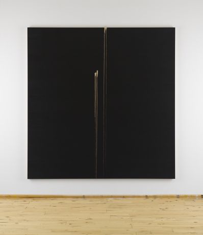 Callum Innes, Two Identified Forms, 2012, oil on canvas, 83 5/8 x 81 5/8 inches © Callum Innes, Courtesy: Sean Kelly, New York