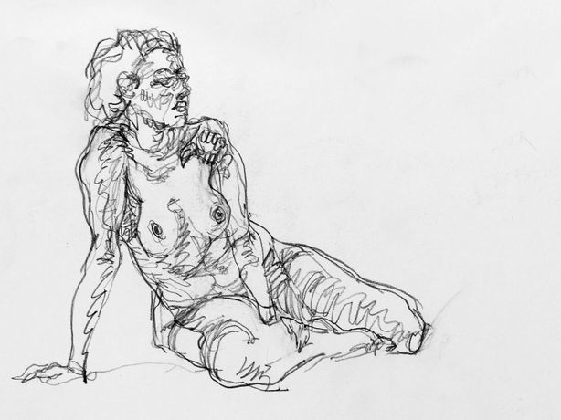 Nude, pencil on paper
