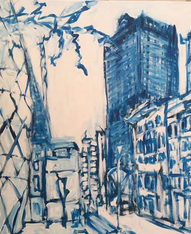 Bishopsgate, acrylic on canvas