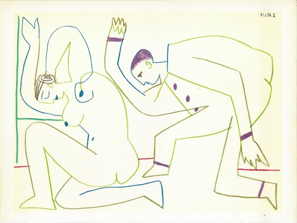 Picasso Lithograph in colours 1954