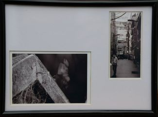 'Urban web' 19x14cms Framed photograph