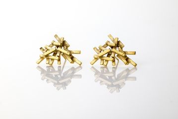 Errin Quinn - Large Earrings, 18ct Gold Plated  Silver