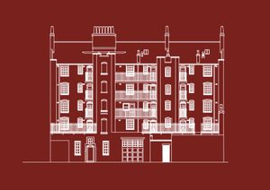 Architectural plan of the Fire Station courtesy of Acme Studios, (Fire Station centenary design © 2009)