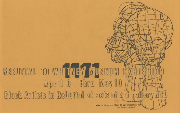 Invitation to Rebuttal to Whitney Museum Exhibition, 1971 Courtesy of Crows Nest Gallery and Studio/Archives of Vivian E. Browne