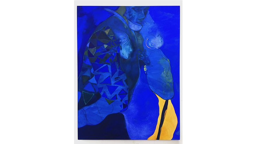 Nativity (Ode to R.B. Kitaj) 2017, oil and synthetic polymer paint on canvas, 145x190cm