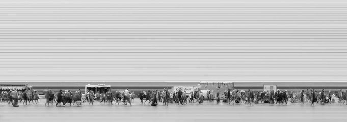 Urban Flow 1807, New York, 2015 pigment print  23 1/2 x 67, edition of 8