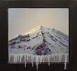 ADAM STRAUS: SUMMIT MELTING, 2007 oil on canvas 17¼ x 18¾ in. 43.8 x 47.6 cm.