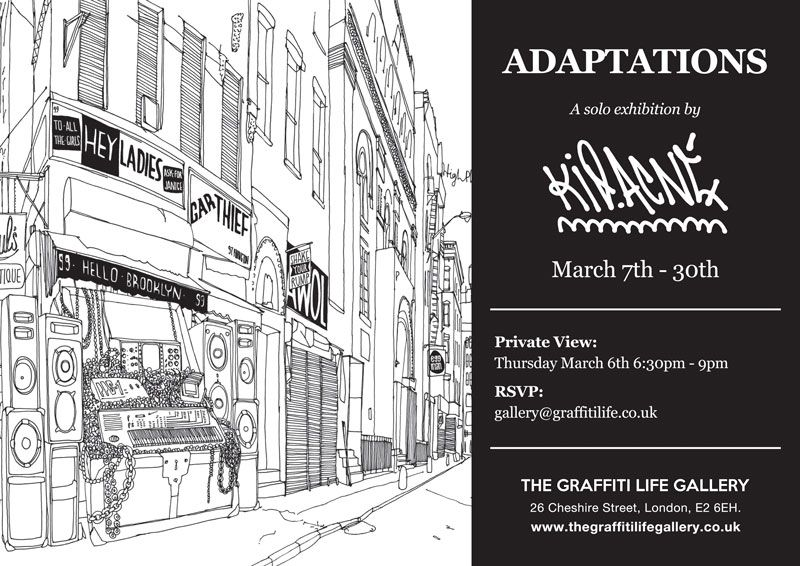 Adaptations A Solo Show By Kid Acne Exhibition At The Graffiti Life Gallery In London