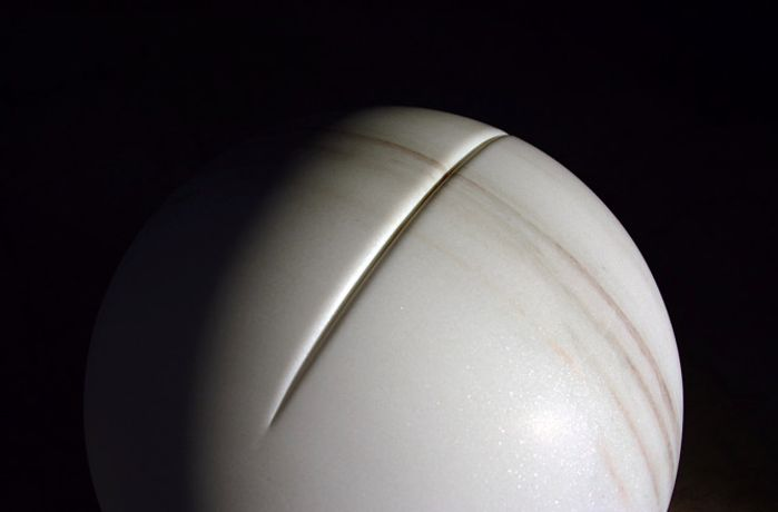 Adeline de Monseignat, In The Flesh V, 2016, bianco cevedale marble, 40 cm diameter