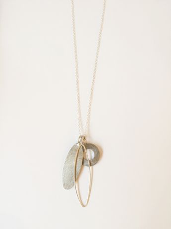 Heather McDermott, silver cluster  necklace