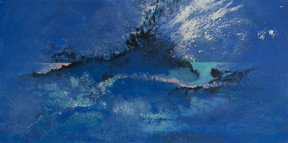 Slow Wave Coming, oil on canvas, 67 x 153 cm, Adrian Hemming