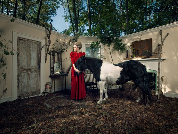 Adrien Broom, Audrey and the Pony, 2011, dye sublimation print on aluminum (photograph)