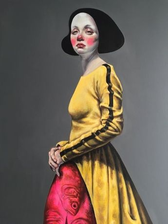 Afarin Sajedi, You Look Ready,130x195cm, Acrylic on canvas