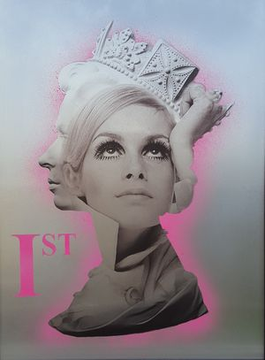 Twiggy is First Class (Pink) by Dan Pearce