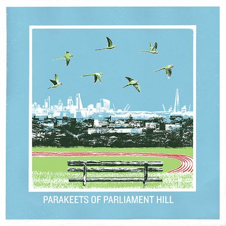Parakeets of Parliament Hill by Emma-Jane Reynolds, Screen print, edition of 25, 70 x 50cm, £100. Image courtesy of East London Printmakers will be on show at our 2016 fair.