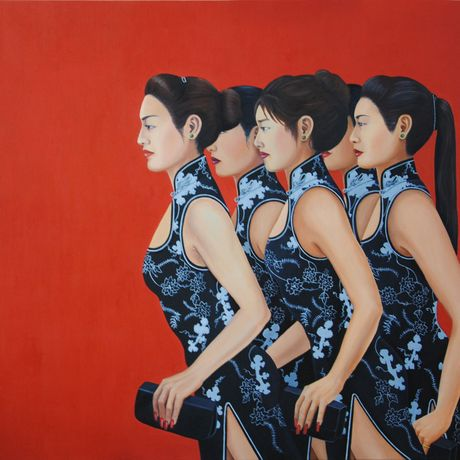 Nadine Caloc, 'Milonga', SG$4,500. Image courtesy of Blue Lotus Fine Art and will be on display at this years fair.