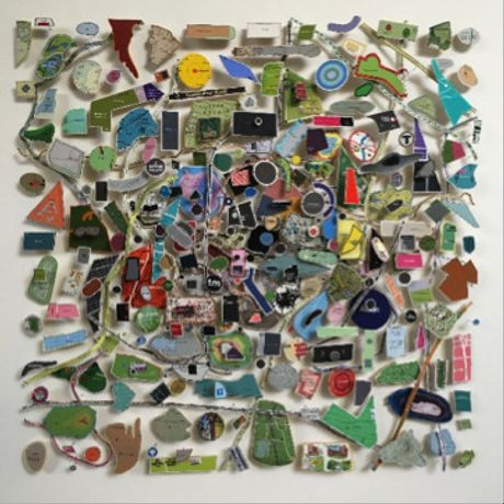 Chris Kenny, 'Crowland', Construction with Found Map Pieces, 76 x 76 cm
