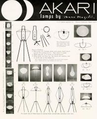 Akari informational poster, c.1950s. All images ©The Isamu Noguchi Foundation and Garden Museum / Artists Rights Society (ARS).
