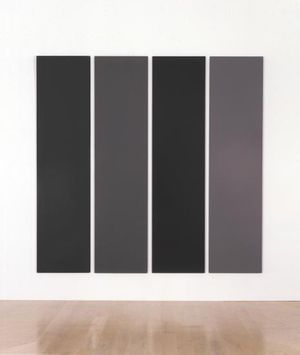 Alan Charlton Painting in Four Different Greys (1990) Acrylic on canvas