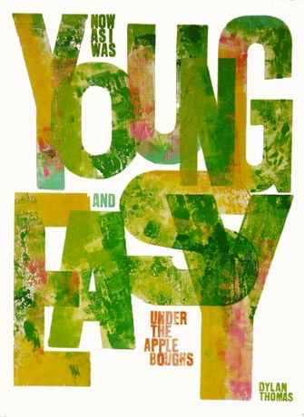 Alan Kitching, Young and Easy, Letterpress Print