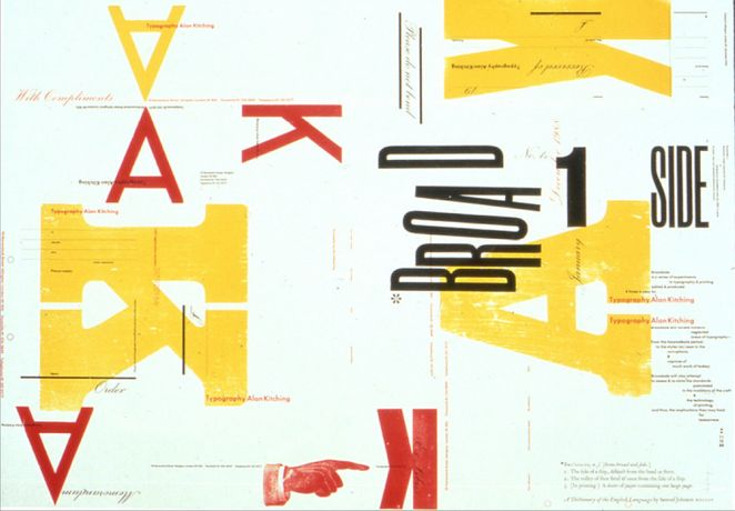 Alan Kitching, Broadside 1, Letterpress Print
