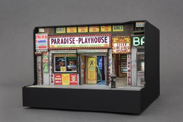 aradise-Playhouse, 2014  Mixed media, 9 (H) x 12 1/4 (W) x 12 1/2 (0) inches