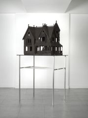 Alastair Mackie, 'House', 2008. Wasp nests, steel and glass base. Courtesy the artist.