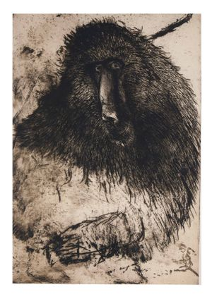 Albert Adams. Baboon 2006