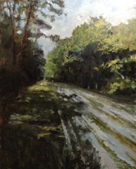 "Chemin forestier. Oil on canvas. 78¾"" x 63″"