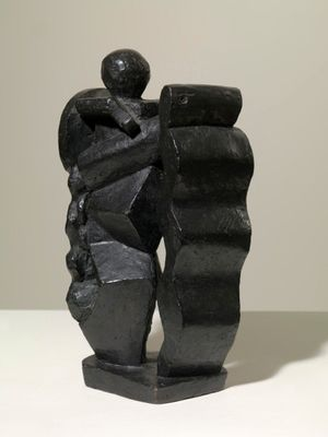 Alberto Giacometti, Composition (Femme au bouclier), 1927-1928. Private Collection, courtesy of Luxembourg & Dayan. © The Estate of Alberto Giacometti (Fondation Giacometti, Paris and ADAGP, Paris), licensed in the UK by ACS and DACS, London 2015.