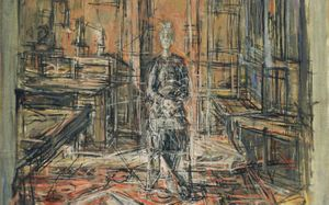 DRAWING THE LINE: THE ARTIST'S MOTHER BY ALBERTO GIACOMETTI (1950) CREDIT: MOMA, NEW YORK; ESTATE OF ALBERTO GIACOMETTI