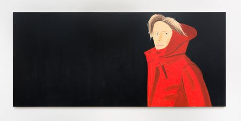 Alex Katz  'Nicole',  2014 Oil on linen 48 x 108 in. /  121.9 x 274.3 cm
