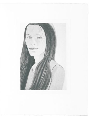 Alex Katz, Female Portrait from the complete set of six
