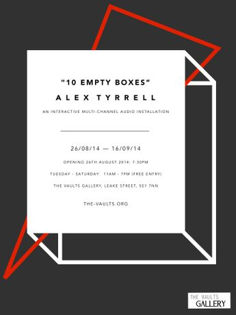 Alex Tyrrell '10 Empty Boxes': Image 0