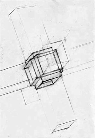 Alexander Viscio, Six ways from Sunday makes for a full week, 2006, drawing, pencil on paper, 15 x 11 cm