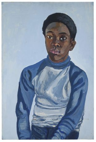 Alice Neel, Benjamin, 1976, acrylic on board, 29 x 20 inches, 75.9 x 52.7 cm