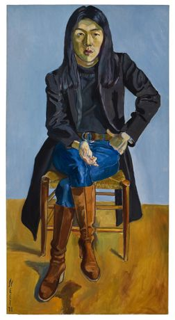 Alice Neel Ron Kajiwara, 1971 Oil on canvas 172,2 × 89,2 × 2,1 cm | 67 3⁄4 × 35 1⁄16 × 13⁄16 inches