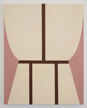 Alice Tippit Loom, 2018 Oil on canvas 21 x 17 inches
