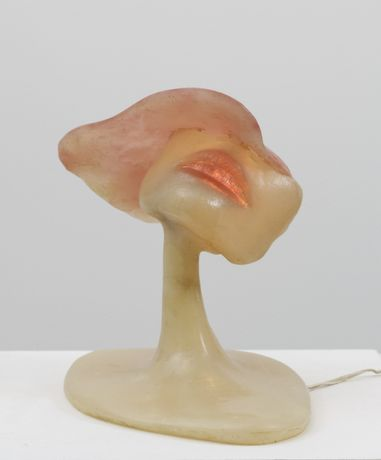 Alina Szapocznikow,  Sculpture - Lampe VIII, 1970,  coloured polyester resin, electrical wiring and metal, 21 x 23 x 16 cm, 8.3 x 9.1 x 6.3 in
