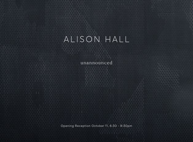 Alison Hall. unannounced