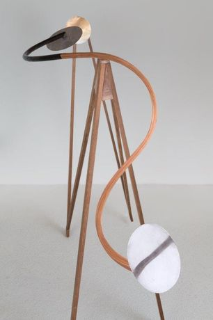 Alison Wilding Mesmer 2016 walnut beech teak aluminium and tin