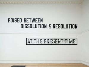 ALL IN DUE COURSE: Lawrence Weiner