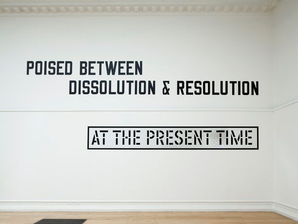 ALL IN DUE COURSE: Lawrence Weiner: Image 0