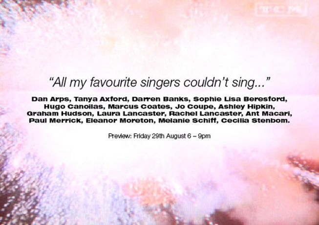 All my favourite singers couldn't sing ...: Image 0