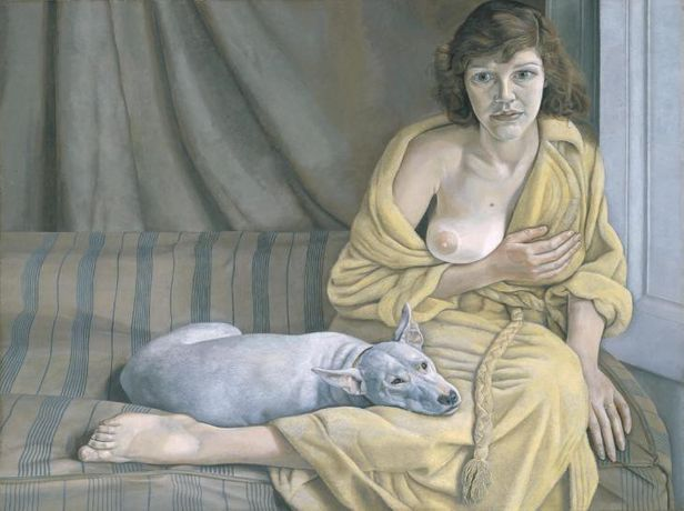 Lucian Freud, Girl with a White Dog 1950–1. Tate. © Tate