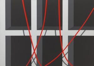 Allan D'Arcangelo  Cave, 1974  Acrylic on canvas