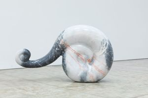 Not Yet Titled, 2019, marble, 37 1/8 x 63 3/4 x 14 1/8 inches, 94 x 162 x 36 cm. Courtesy of the Artist.