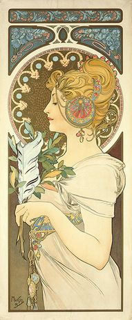 Alphonse Mucha. Feather