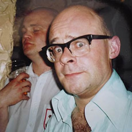 Harry Hill and Al Murray at the last night of the Meccano Club at the Market Tavern Islington, 1992
